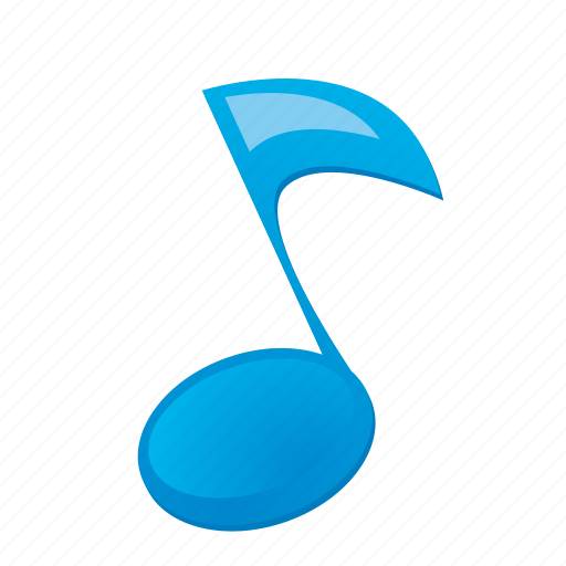 blue, music, musical, note, sound icon