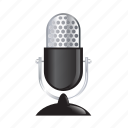 audio, microphone, music, radio, sound, speaker icon