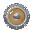 audio, circle, loud, music, round, speaker icon