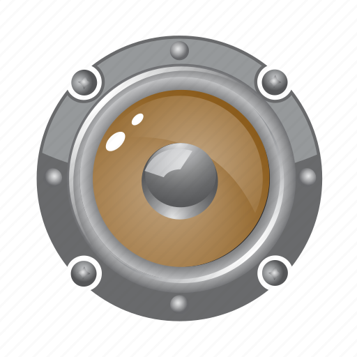 audio, circle, loud, music, round, speaker icon