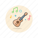 audio, guitar, instrument, music, play, sound, ukulele icon