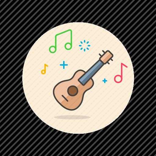 audio, guitar, instrument, music, play, sound, ukulele icon