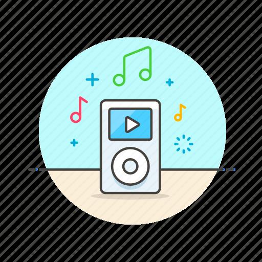 apple, audio, gadget, ipod, media, music, play, sound icon