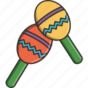 banda, dance, maracas, move, music, musical, sing icon