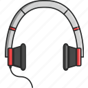 earphones, headphones, headset, music, musical, sing, video icon