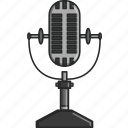 dance, microphone, music, musical, radio, singer, song icon