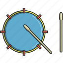 dance, drum, drum sticks, drums, music, musical, waves icon