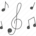 dance, music, music notes, musical, musical notes, notes, singer icon