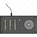 dj equipment, dj machine, dj table, music, musical, turntable icon