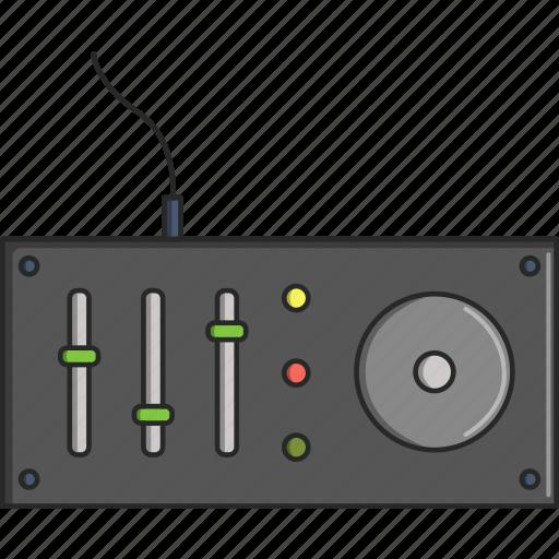 dj equipment, dj machine, dj table, music, musical, turntable icon
