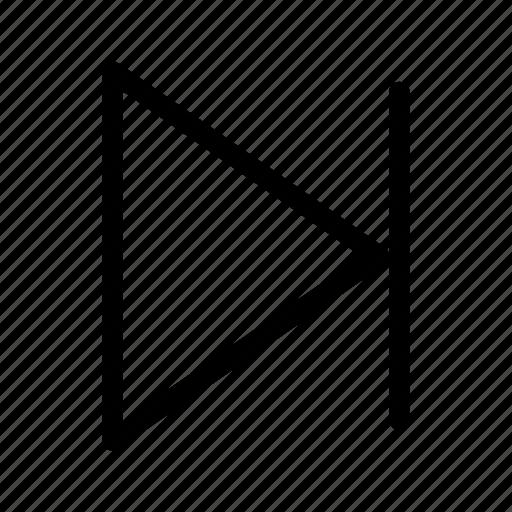 direction, forward, move, next, right icon