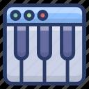 musical instrument, musical keyboard, piano, piano keyboard, wireless keyboard icon