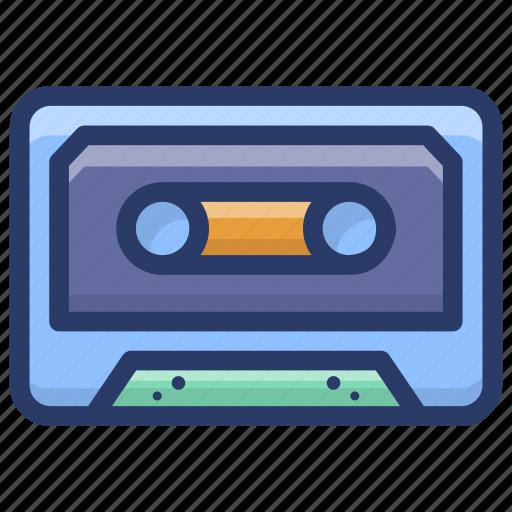 audio cassette, cassette tape, compact cassette, musicassette, vintage cassette icon