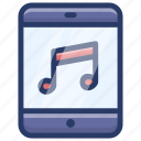 cellphone music, mobile music, playlist, smartphone music, smartphone songs icon