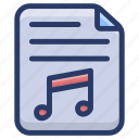 audio file, mp3 file, music document, music file, song file icon
