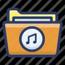 data folder, file, media folder, music folder, songs folder icon