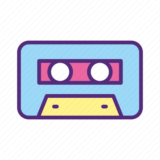 audio, cassette, equipment, filled, music, song, tape icon