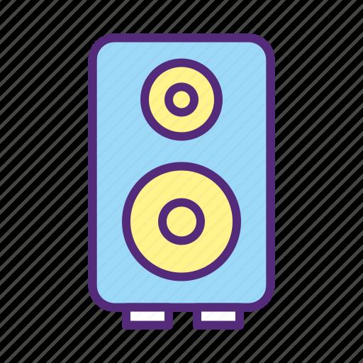 audio, music, sound, speaker, woofer icon