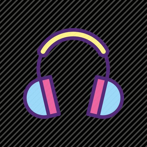 audio, headphone, headset, listen, music, on ear, sound icon