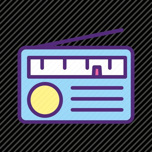 audio, device, fm, music, radio, sound, speaker icon