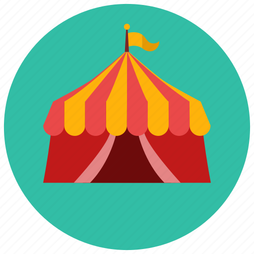 circus, entertainment, music, shows, tent icon