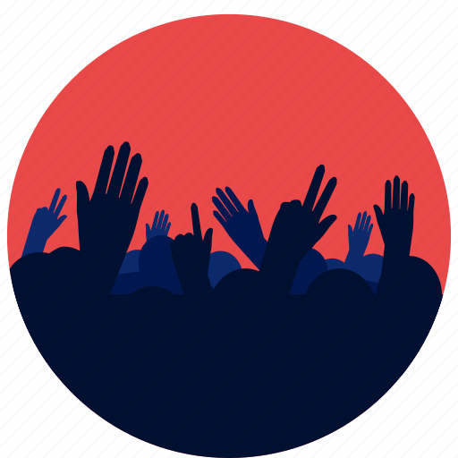Concert, crowd, entertainment, hands, music icon | Icon ...