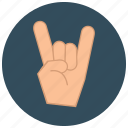 entertainment, fingers, gesture, hand, music, rock, sign icon