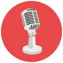 announcer, entertainment, microphone, music, singer, song, speech icon