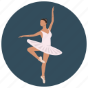 ballerina, ballet, dancer, entertainment, music, preformer icon