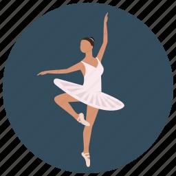 ballerina, ballet, dancer, entertainment, music, preformer icon