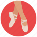 ballerina, ballet, dancing, entertainment, music, preformer, shoes icon