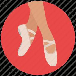 ballerina, ballet, dancing, entertainment, music, preformer, shoes icon