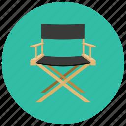 chair, cinema, director, entertainment, movies icon