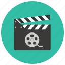 cinema, clapper, entertainment, film, movie, video icon