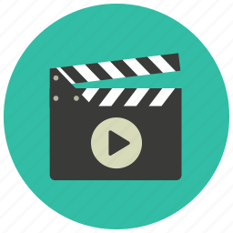 cinema, clapper, entertainment, film, movie, play icon