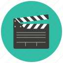 cinema, clapper, entertainment, film, movie, scene icon