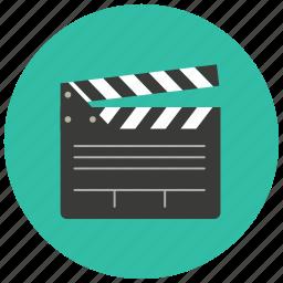 cinema, clapper, entertainment, film, movie, scene icon