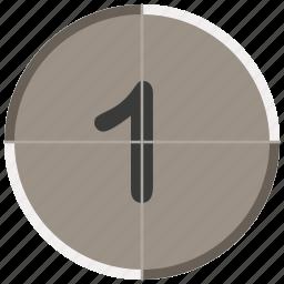 countdown, entertainment, movie, music, one icon