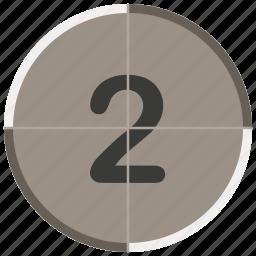 countdown, entertainment, movie, music, two icon