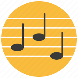 entertainment, lines, music, notes, read icon