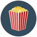 box, entertainment, movies, music, popcorn, theater icon