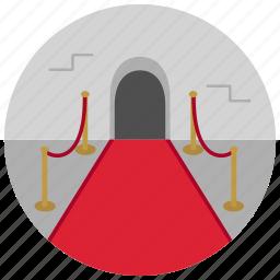 carpet, entertainment, entrance, music, premiere icon
