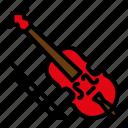 instrument, music, orchestra, violin icon