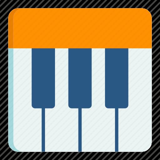 instrument, keyboard, music, piano icon