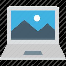 computer desktop, laptop, laptop wallpaper, open laptop, wallpaper icon