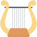 entertainment, harp, multimedia, music elements, music instruments icon