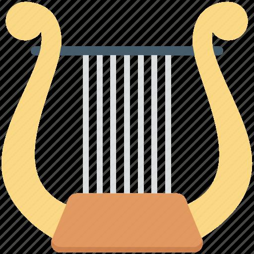 entertainment, harp, multimedia, music elements, music instruments icon