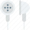 earbuds, earphones, earpieces, earplug, hands free icon