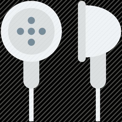 earbuds, earphones, earpieces, earplug, hands free icon