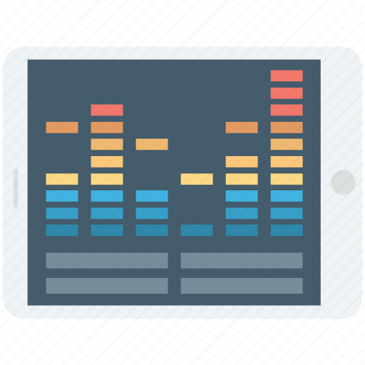 musical bars, sound bars, sound frequency, soundwave, volume control icon